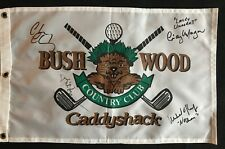 BILL MURRAY CHEVY CHASE CINDY MORGAN OKEEFE SIGNED CADDYSHACK PIN FLAG JSA LOA