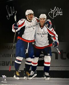 Capitals TJ Oshie Alex Ovechkin Signed 16x20 Photo Fanatics Hologram