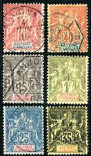 ANJOUAN 1892 Yvert 10,13-17 gestempelt 220€(D6985