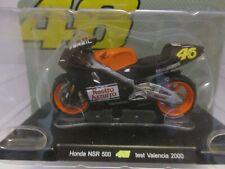 MOTO VALENTINO ROSSI 1/18 #46 HONDA NSR 500 TEST VALENCIA 2000 COLL.EDICOLA