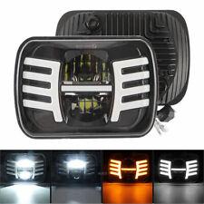 "LED Vehicles Headlight 120W 7x6 5X7"" Hi-Lo Beam Halo DRL For Jeep Cherokee Truck"