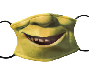 Shrek Funny Face Mask Covering Washable with Filter Gift Adult Children's