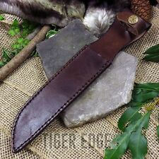 "FIXED-BLADE KNIFE BELT SHEATH FOR 7"" BLADE   USMC Combat Knife Brown Leather"