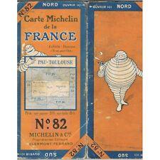 CARTE Michelin N°82 PAU-TOULOUSE Pamiers Mont-de-Marsan Gaillac Lectoure 1924