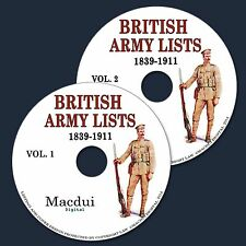 British Army Lists 1839 to 1912 Vintage e-Books Collection 61 PDF on 2 DVD's
