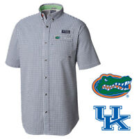 Columbia Men's NCAA NPlaid PFG CLG Super Harborside S/S Woven Shirt (Retail $80)