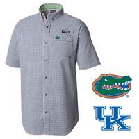 Columbia Men's NCAA NPlaid PFG CLG Super Harborside S/S Woven Shirt (Retail $80)