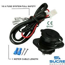 12V/24V Impermeable Encendedor de Cigarrillos +1M Cable De Alimentación Conector + Placa