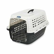 "LM Petmate Compass Kennel - Black & Metalic White Small - 24.6""L x 16.9""W x 15""H"