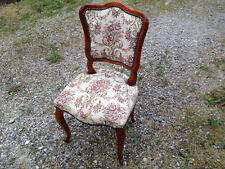 Ancienne chaise fauteuil assise et dossier rembourrés french antique chair