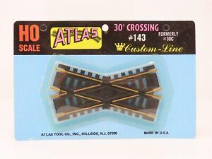 HO Scale Atlas #143 Custom Line 30 Degree Brass Crossing Track - Sealed