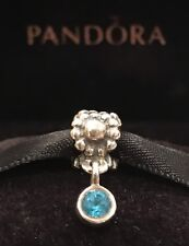 Authentic Pandora Dew Drop Topaz Dangle Retired Pandora Charm Sterling Silver