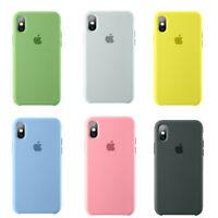For iPhone X 8 6 7 Plus Cover Fashion Macaron Silicone Original Matte Phone Case