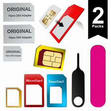 6 in 1 Nano SIM Card to Micro Standard SIM Adapter Set (Universal, 2 packs)