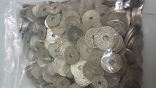 FRANCE LOT DE 200gr DE PIECES DE 5 , 10 , 25 CENTIMES LINDAUER PIECES A TROU