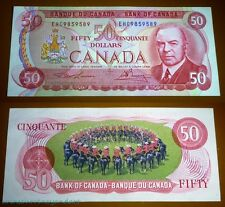 RADAR BANKNOTE ; BANK OF CANADA , 1975 $50 ,