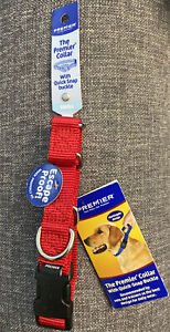 """NEW! Premier Martingale Collar with Quick Snap Buckle 3/4"""" Red Small 8""""-12"""""""
