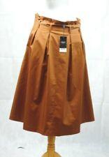 Next Tailoring Brown Paperbag Skirt Size 12 uk rrp £38 CR191 GG 22
