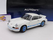 """AUTOart 78052 # PORSCHE 911 Carrera RS 2.7 Baujahr 1973 in """" weiß-blau """" 1:18"""