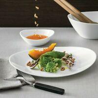 Bormioli Prometeo 18 Piece Dinner Set White Opal Glass Dinnerware Dining Plates