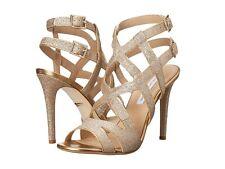 Neu Dvf Diane Von Furtensberg Valene Sandalen Riemchen Gold Glitzer Schuhe 9.5