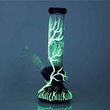 "10"" Glow in the Dark Hookah Water Pipe Bong Glass Bongs"