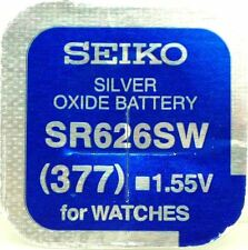 Seiko 377 (SR626SW) Silver Oxide (0%Hg) Mercury Free Watch Battery Made in Japan