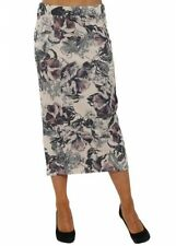 Polyester Straight, Pencil Floral Skirts for Women