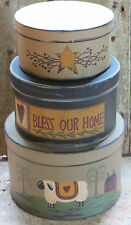 Primitive Nesting Storage Boxes Bless Our Home Country Decor Willow Sheep Shaker