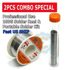 "100G 60-40 Tin Lead Rosin Core Solder Wire Soldering Sn60 Pb40 Flux .039""/1.0mm"