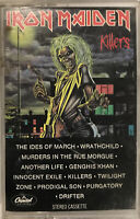Iron Maiden – Killers Cassette 1981 Capitol Records – C4-91416