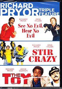 RICHARD PRYOR TRIPLE - SEE NO EVIL HEAR NO EVIL STIR CRAZY THE TOY DVD R4