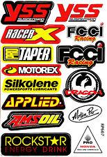 Rockstar Energy Motocross Logo Motorcycle Helmet Sponsor Decal Stickers Sheet 44