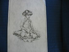 * Tri Chem 7461 Easter Lambs Spring Liquid Embrodery Picture to paint Trichem