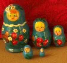 Handpainted Russian Nesting Doll 5 Pcs 3.6*