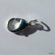25 x 10 MM LOBSTER, CLAW CLASP SILVER PLATED   complete with jump rings.