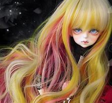 Bjd Doll Wig 1/4 7-8 Dal Pullip AOD DZ AE SD DOD LUTS Dollfie GOLD PINK Toy Hair