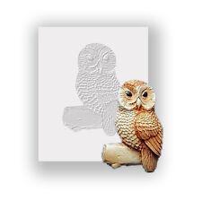 Owl On Tree Silicone Mould, Food Safe, Cake Decorating, Sugarcraft Mold