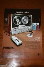 AZ20=1972=PHILIPS REGISTRATORE HI FI STEREO=PUBBLICITA'=ADVERTISING=WERBUNG=