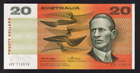 Australia R-406a.  (1976) 20 Dollars.  Knight/Wheeler - Centre Thread..  UNC