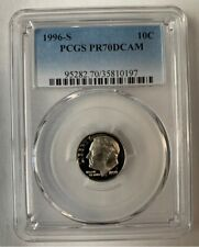 1996-S PCGS PR70 DCAM Roosevelt Dime 10c Proof 70 / Graded Certified Coin