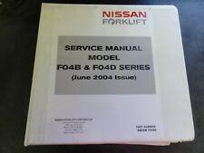 Nissan F04B & F04D Forklift Service Manual