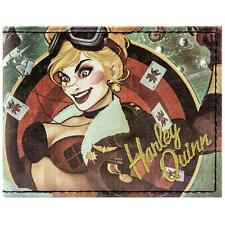 DC Comics Bombshells Harley Quinn Green ID & Card Bi-fold Wallet