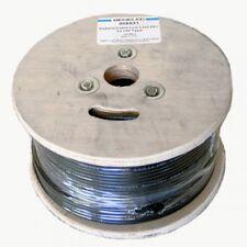 RG58 Coaxial Câble 100 m Tambour Noir 50 ohms