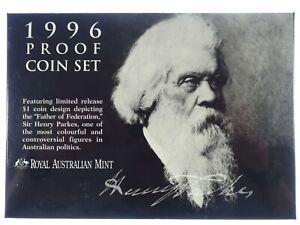 1996 Royal Australian Mint Sir Henry Parks Centenary Proof Coin Set