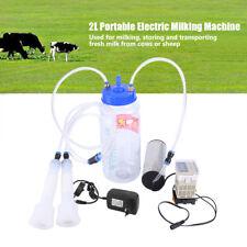 Machine à Traire 2L Pompe à Vide Portable pr Vaches Acier inoxydable EU plug