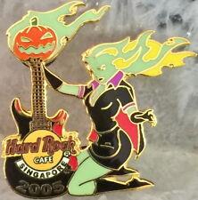 Hard Rock Cafe SINGAPORE 2005 HALLOWEEN PIN Ghoul Waitress w/Guitar - HRC #30244