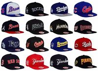 New Era MLB Authentic 9Fifty Mens Snapback XL Script Adjustable Baseball Hat Cap