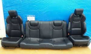 2010-2013 Hyundai Genesis Coupe Seat Front And Rear Black Leather OEM