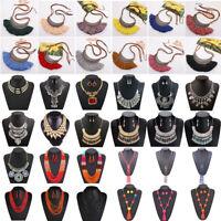 Bohemia Women Choker Chunky Statement Bib Alloy Charm Pendant Necklace Jewelry